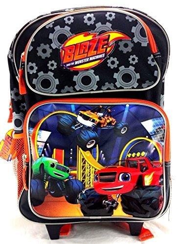 """Blaze and the Monster Machines 16"""" Canvas Black & Orange Sch"""