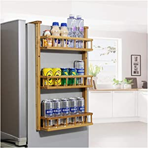 Refrigerator Hanging Organizer Rack, 3-Layer Fridge Mounted Spice Jars Storage Shelf, Side Wall Stand for Kitchen Cabinet Cupboard by Mostbest
