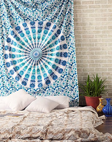 RAJRANG Indian Wall Decor Hippie Tapestry Bohemian Mandala Tapestries Home Decorative Wall Hanging Beach Throw