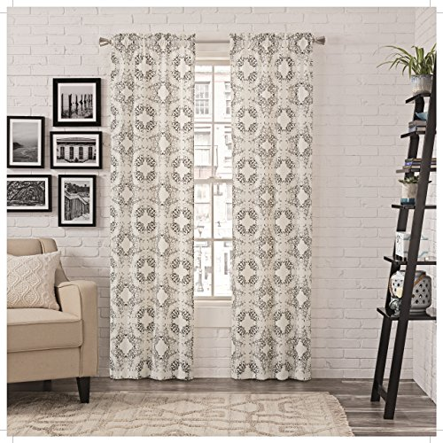 Pairs To Go 16387056X063CHR Aldrich 56-Inch by 63-Inch Window Panel Pair, Charcoal (Cheap Window Curtain Sets)