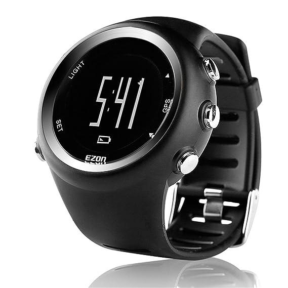 Relojes de pulsera para hombre al aire libre, relojes de pulsera de lujo marca GPS