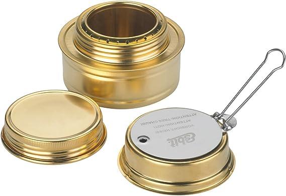 Esbit Spiritus-Brenner Set de Cocina, Unisex, Latón