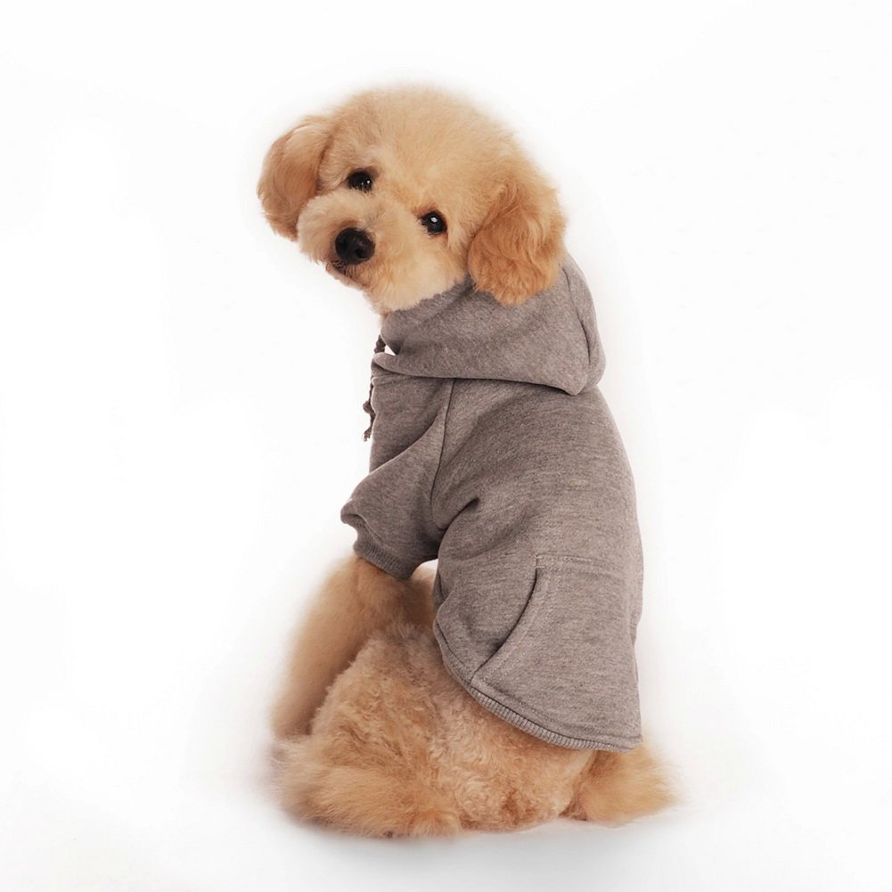 XS Dimart Comfortable Fleece Pet Dog Sweatshirt Warm Coat Puppy Hoodie Apparel Costumes Clothes-Orange