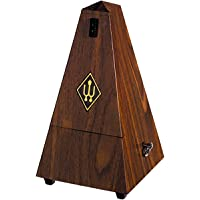 Wittner Taktell - Pyramid Metronome with Bell - Plastic Casing - Walnut Texture