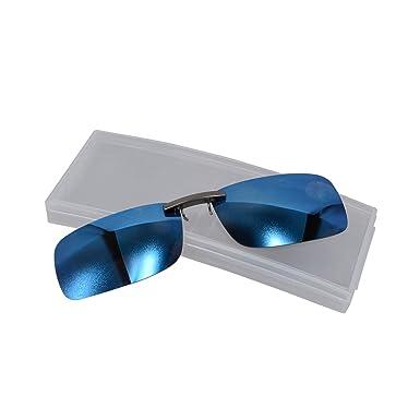 Amazon.com: anteojos de sol polarizadas UV clip sobre azul ...