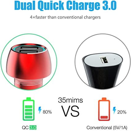 MUVIT Spring Car Charger 1A USB Red