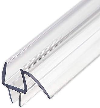 Junta inferior para puerta de ducha sin marco con riel antigoteo, cristal de 6 mm de