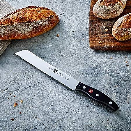 ZWILLING Cuchillo de pan, Longitud de la hoja: 20 cm, Hoja dentada, Mango especial de acero inoxidable/plástico, Twin Pollux