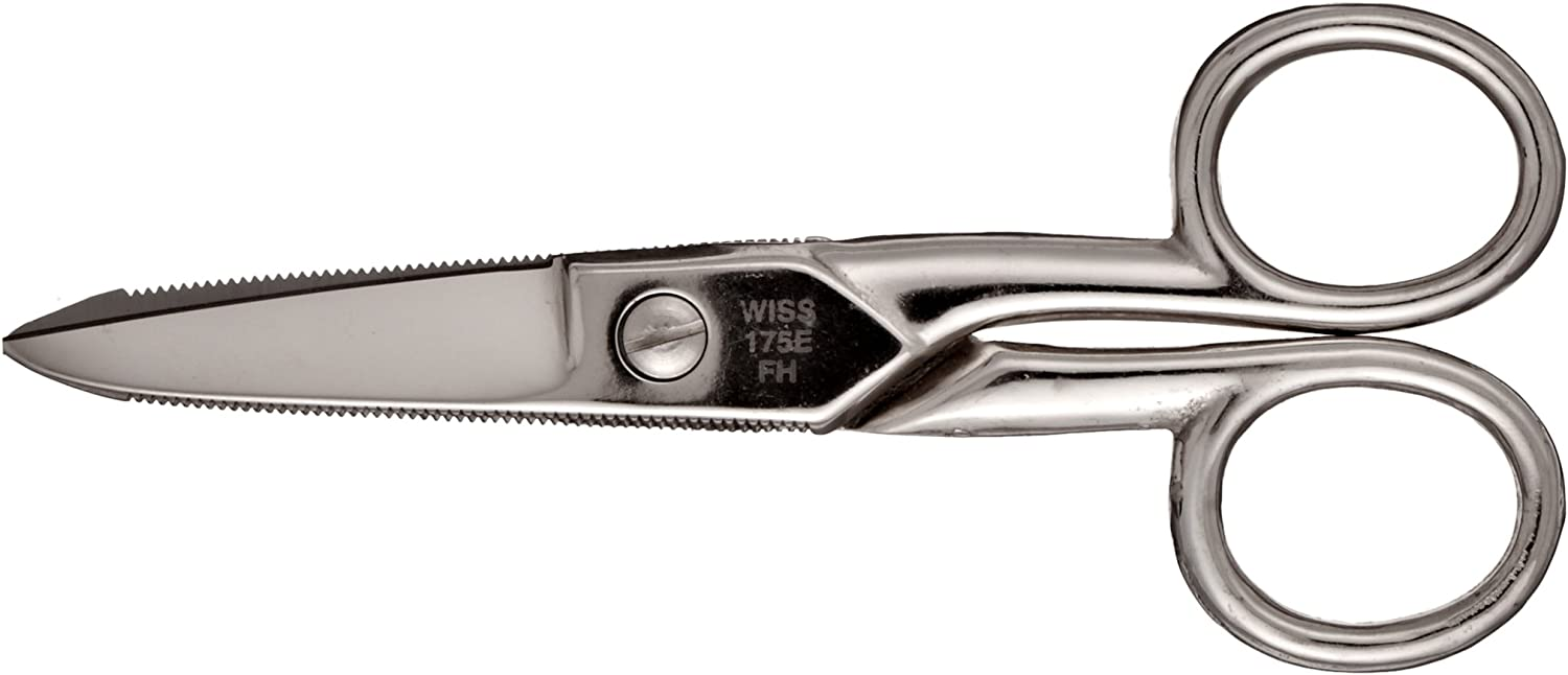 Y Cable Cutter WISS Electrician//Data Scissor Titanium Coated Steel Blades