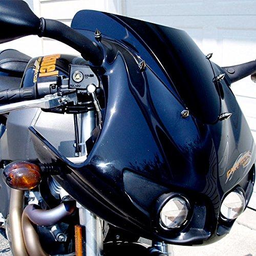 Silver Motorcycle Spike Bolt Screw Fairings 6pcs For Suzuki Boulevard M109R C109R C50 C90 S40 S50 S83
