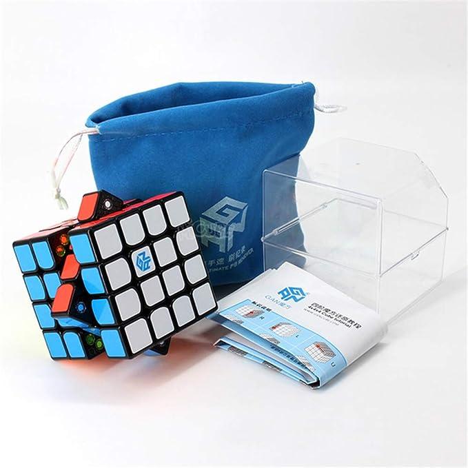 GAN 460 M 4x4x4 Speed Cube, Puzzle Profesional Cubo sin Etiqueta, Speed Cube Puzzle Profesional Match Cube Rompecabezas Juguete Educativo,Multicolor: Amazon.es: Hogar
