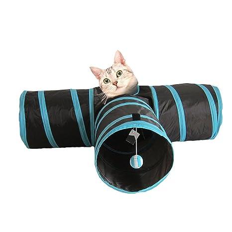 Túnel plegable para gatos de carretera – Tubo premium para conejos, gatitos, gatos grandes