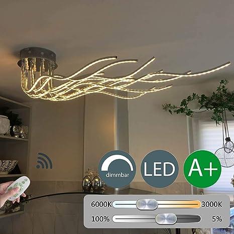 AFDK Lámpara de techo LED regulable con control remoto ...