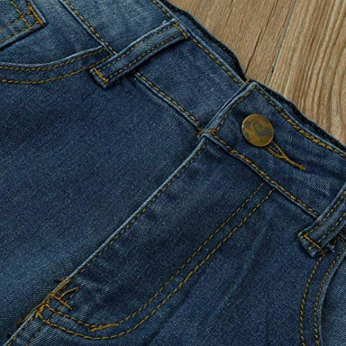 Cintura Ajustados De Alta Vaqueros Ropa Azul Algodón Elásticos Lápiz Pantalones Rasgados qwEgxBXn4R