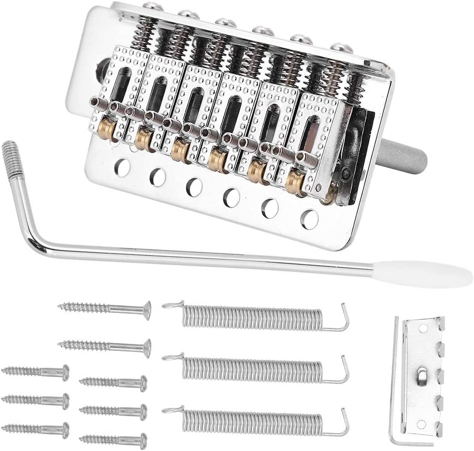 Artibetter 6PCS Guitar Tremolo Bridge Saddles Replacement Guitar Part Silver