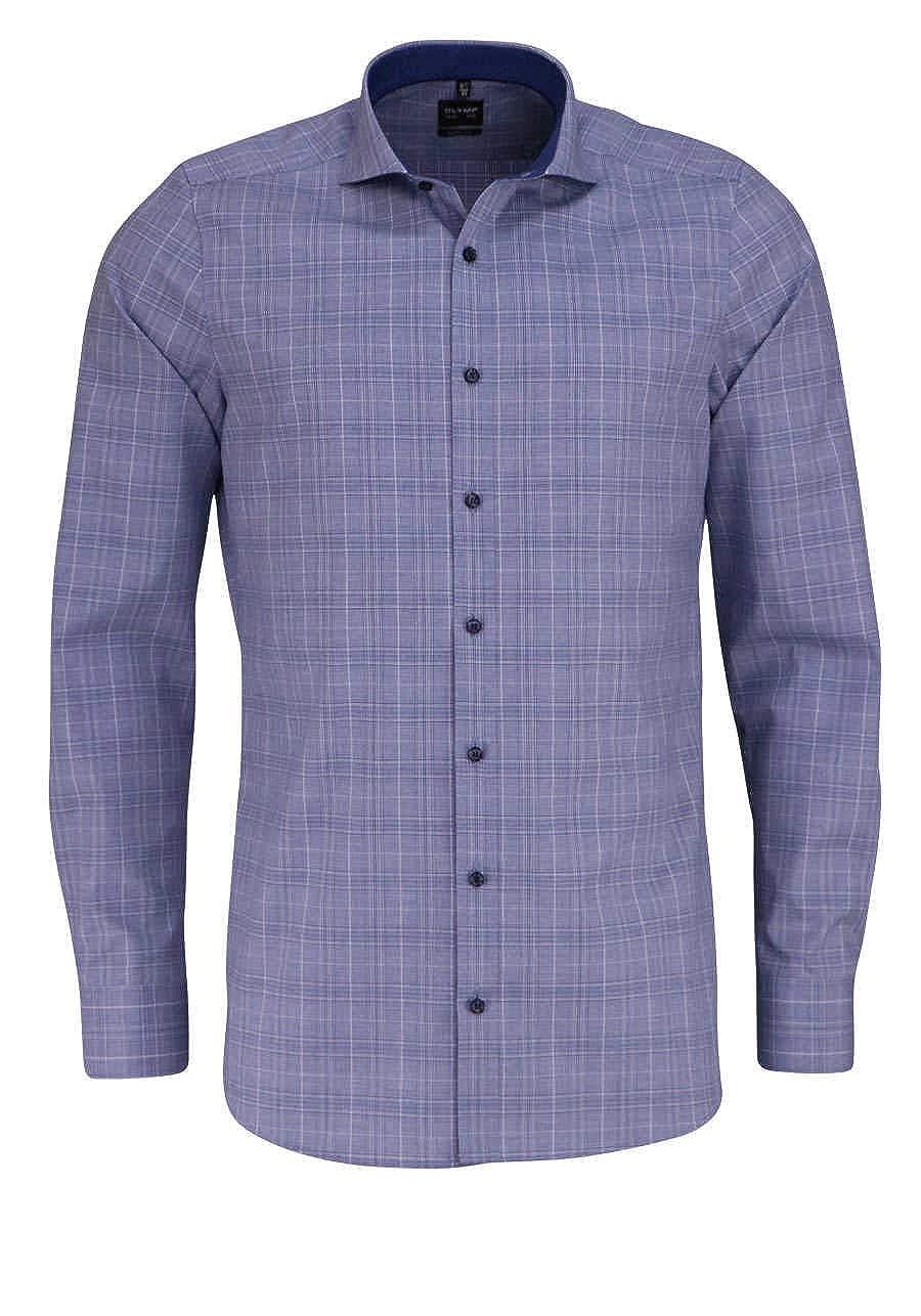 TALLA 40. Olymp - Camisa Formal - Cuadros - Cuello Kent - para Hombre
