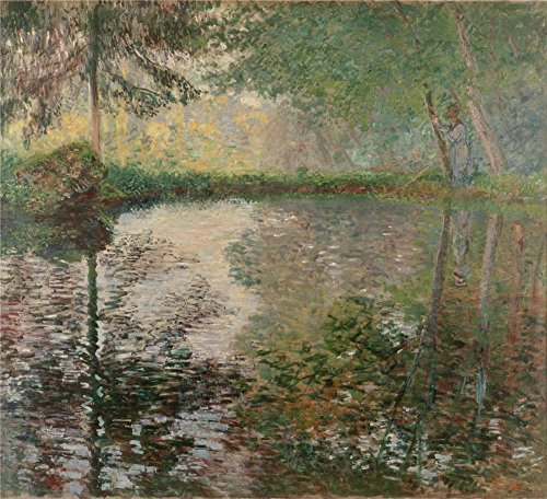 Oil Painting 'Monet, Claude_1876_Pond At Montgeron', 30 x 33 inch / 76 x 84 cm , on High Definition HD canvas prints is for Gifts And Dining Room, Powder Room ()