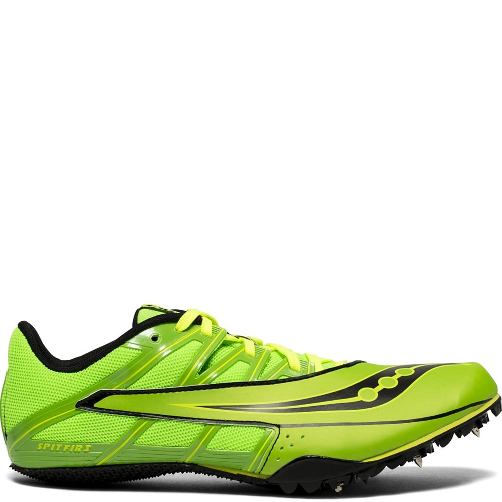 Saucony Men's Spitfire 4 Track and Field Shoe, Green/Black, 10 Medium US by Saucony