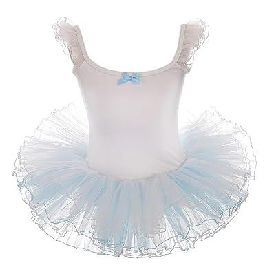 7bf4c07b3b00 Lito Angels Girls Cuf Sleeves Fluffy Ballet Tutus Dancewear Leotard ...