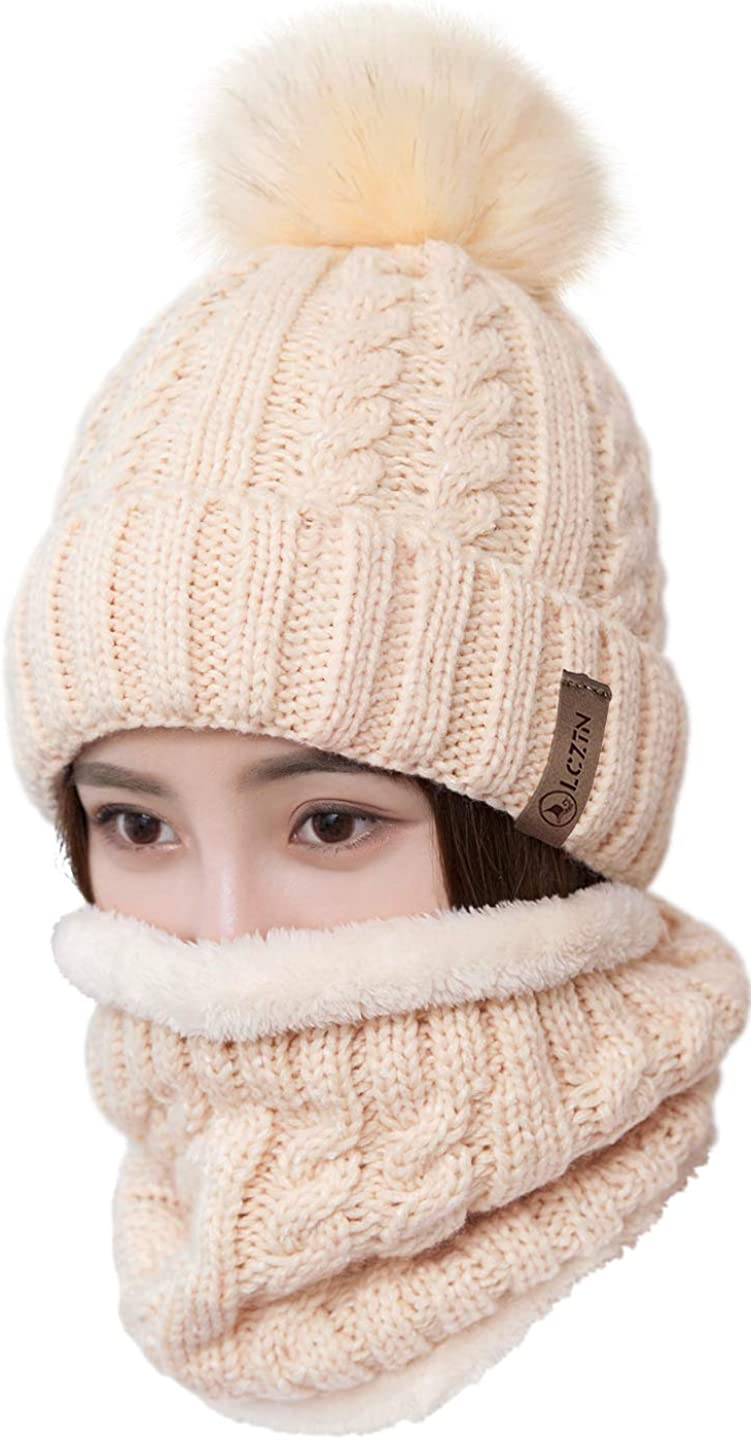 Girls Winter Pompom Beanie Hat Double Layer Fleece Lined Among Us Winter Cap