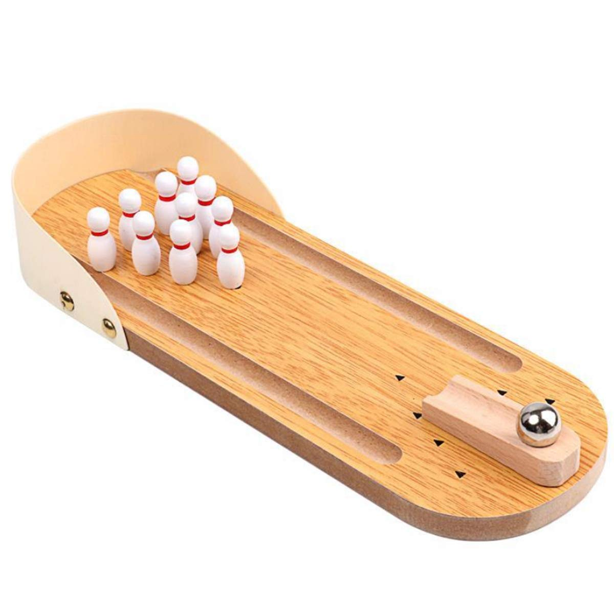 Halloluck Mini Bowling Game Mini Wooden Desktop Bowling Game Mini Tabletop Bowling for Kids Adults, Mini Desk Ball Game by Halloluck