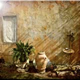 Rikki Knight Country Garden Tuscany with Plant Design Art Ceramic Tile, 4 by 4-Inch