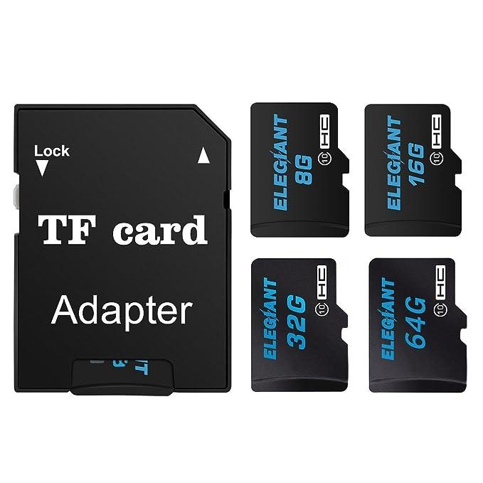 ELEGIANT 32GB Micro SD Tarjeta TF Tarjeta de Memoria con Adaptador Micro SD Clase 10 Seguro Digital De Alta Velocidad Flash Con Adaptador SDHC