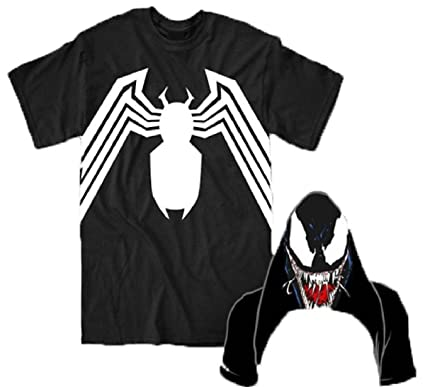 amazon com marvel comics spider man venom logo with flip venom face rh amazon com All Spider-Man Logos Spider-Man 2 2004 Logo