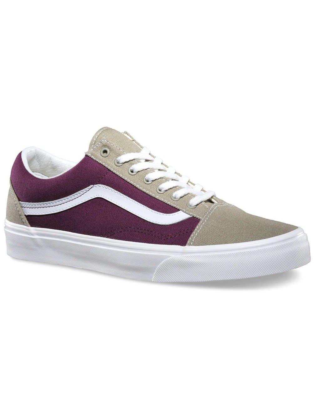 Vans Grau/Weiß Herren Sneaker Violett - Purple/Khaki Grau/Weiß Vans e07180
