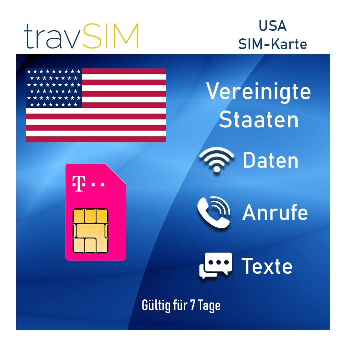 Prepaid Karte Internet.Travsim Prepaid Sim Card Usa T Mobile 50 Gb Mobile Internet