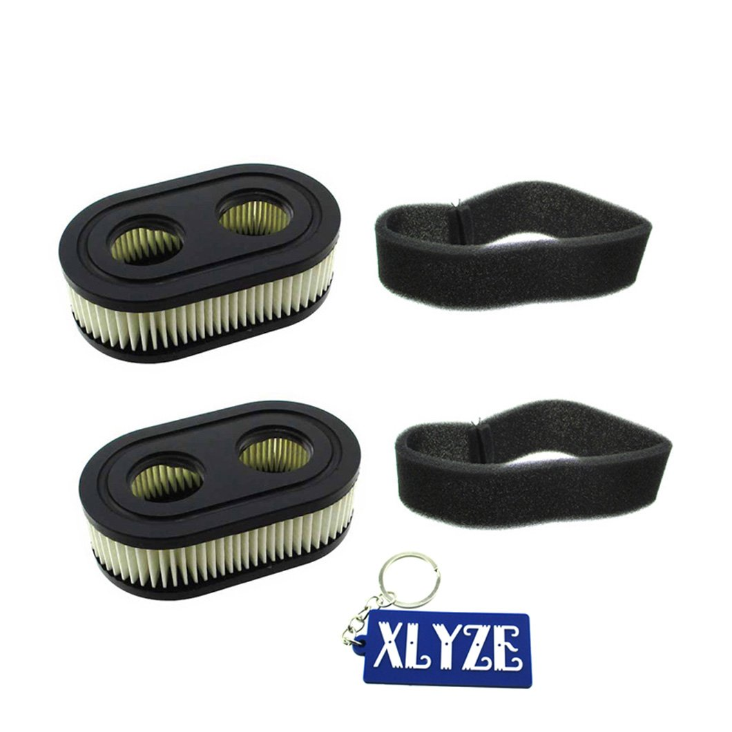 XLYZE Air Filter 2Sets for Briggs & Stratton 4247 5432 5432K 593260 798452 09P702 798513 Cartridge 550E 550EX series
