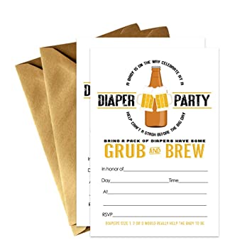 Amazon Diaper Baby Shower Invitations For Dad Q Couples