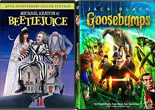 Skeletons in the Closet R.L Stine The Movie Goosebumps + Beetlejuice Tim Burton with TV episodes Animated Spooky Boo-Tique! Creepy family Fright Fun Pack -