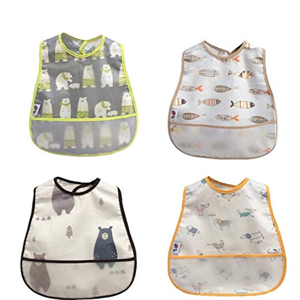 8-Layers bib 4 Pack Babyhood 100/% Cotton Baby Bibs,8 Layers Gauze Baby Bibs,360 Rotational Soft Baby Drool Bibs Breathable Bandana Bib for Drooling and Teething