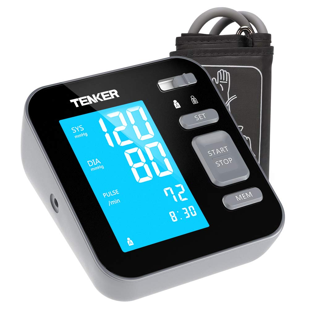 TENKER Upper Arm Home Blood Pressure Monitor with Cuff That fits Standard and Large Arms