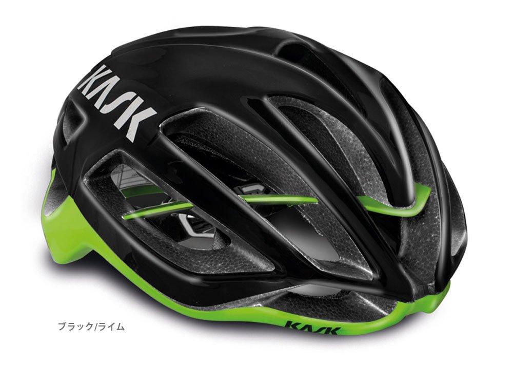 KASK(カスク) PROTONE <ブラック基調> ロードヘルメット ブラック/ライム Large  B01DQQX17I
