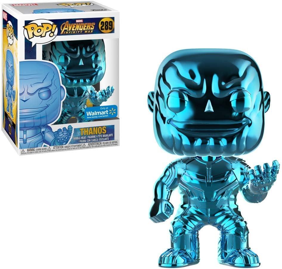 Funko Pop 36219 Marvel Avengers Infinity War Thanos Chrome Blau Vinyl Figur 9cm Amazon De Spielzeug