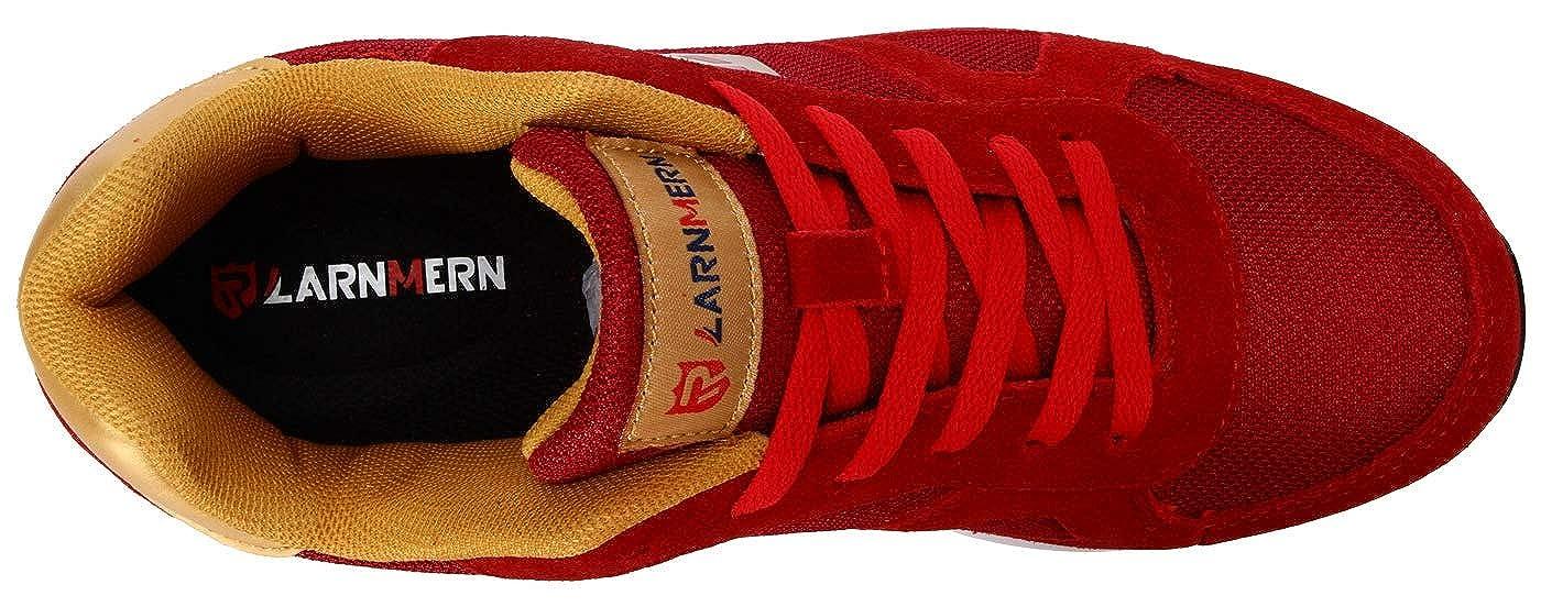 LARNMERN Zapatos de Seguridad para Hombre con Puntera de Acero Zapatillas de Seguridad Trabajo Calzado de Industrial y Deportiva