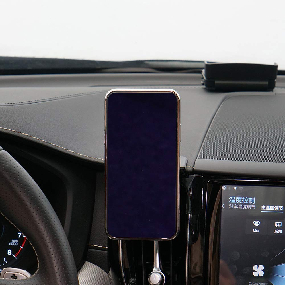 Phone Holder for Volvo XC60,Adjustable Vent Dashboard Cell Phone Holder for Volvo XC60 2018 2017,Car Phone Mount for iPhone 7 iPhone 6s iPhone 8,for Samsung,Smartphone for 4.7//5//5.5//6 in CLEC