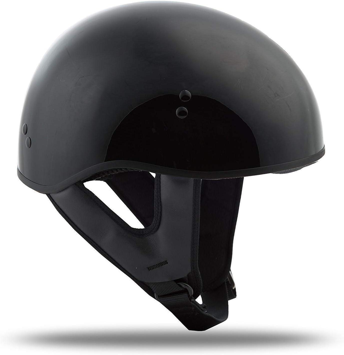 Gmax GM45 Naked Adult Motorcycle Cruiser Half 1//2 Helmet Flat or Gloss Black