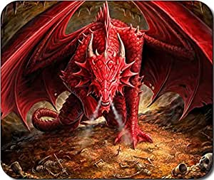 Red Dragon Large Mousepad Mouse Pad Great Gift Idea by icecream design