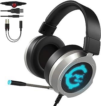 Auriculares Gaming CACAGOO PS4 de Mac Estéreo con Micrófono Juego ...