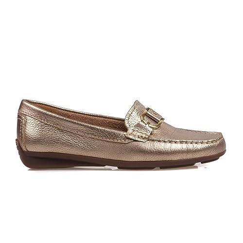 Van DalFern - Mocasines mujer , color Dorado, talla 37,5 EU: Amazon.es: Zapatos y complementos