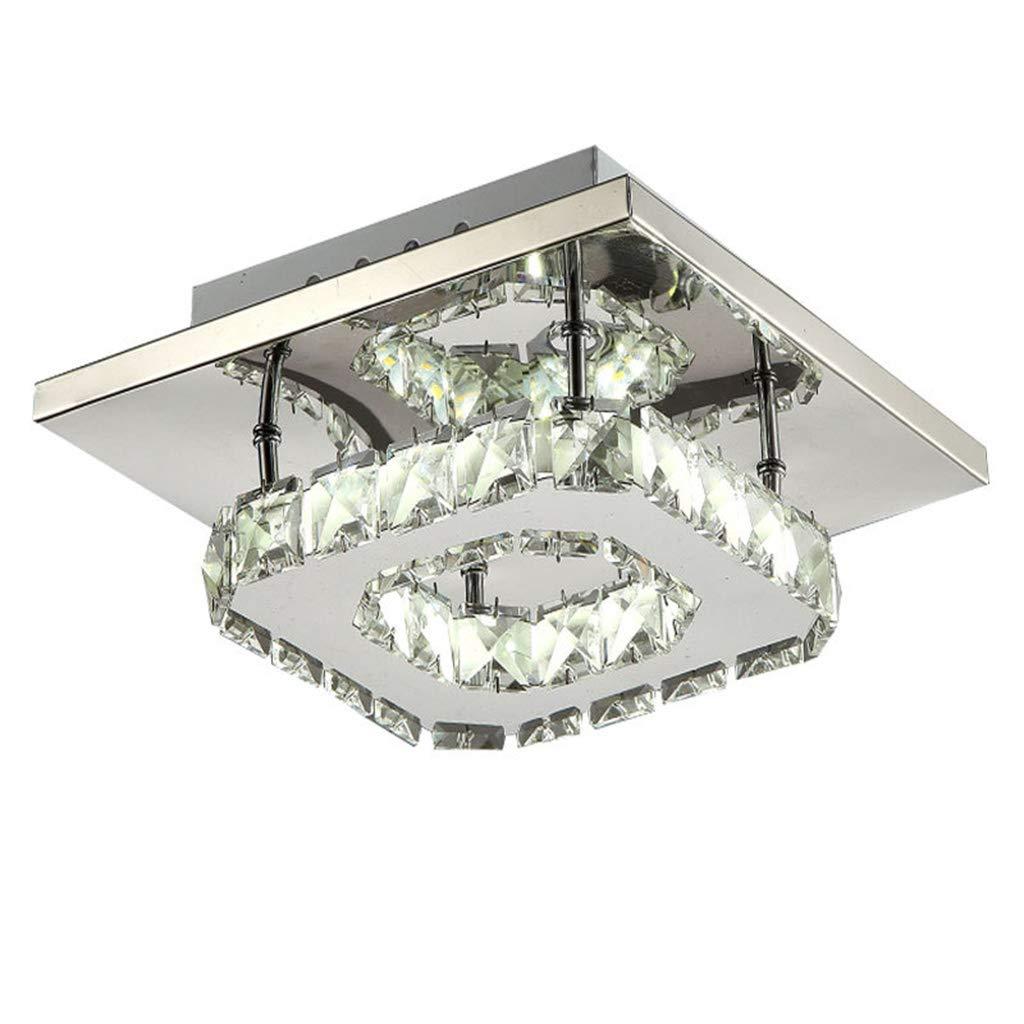 Pendant lights led crystal ceiling light flush mount 1 light modern