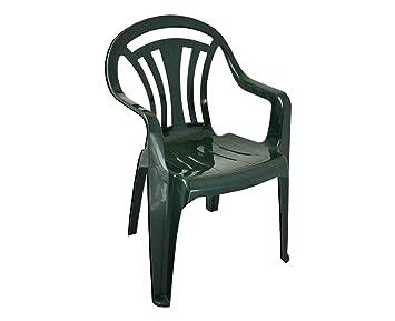 b5e9cde26142 Garden Chair - Green - Patio Outdoor Plastic Furniture (Pack of 6 ...