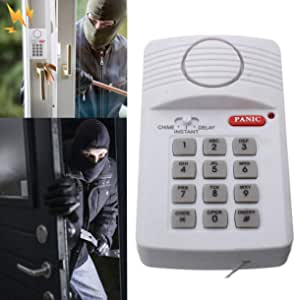 Alarma de seguridad inalámbrica Defender para el hogar, para garaje, cobertizo, caravana, con teclado para puerta, ventana, alimentado por 3 pilas AA ...