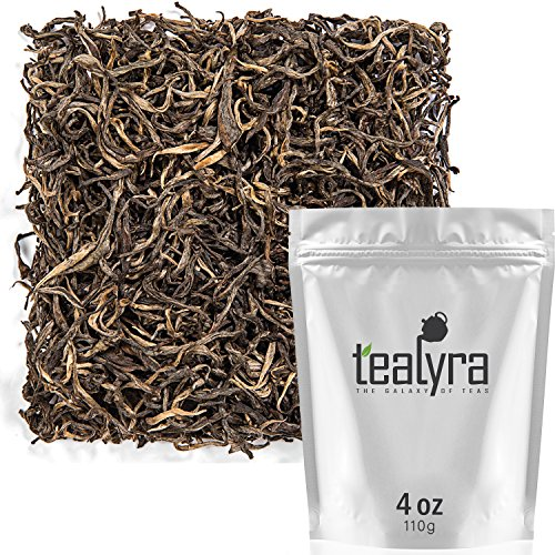 - Tealyra - Huang Cha - Rare Yellow Tea - Best Chinese Yellow Loose Leaf Tea - Organically Grown - Antioxidants Rish - Caffeine Medium - 110g (4-ounce)