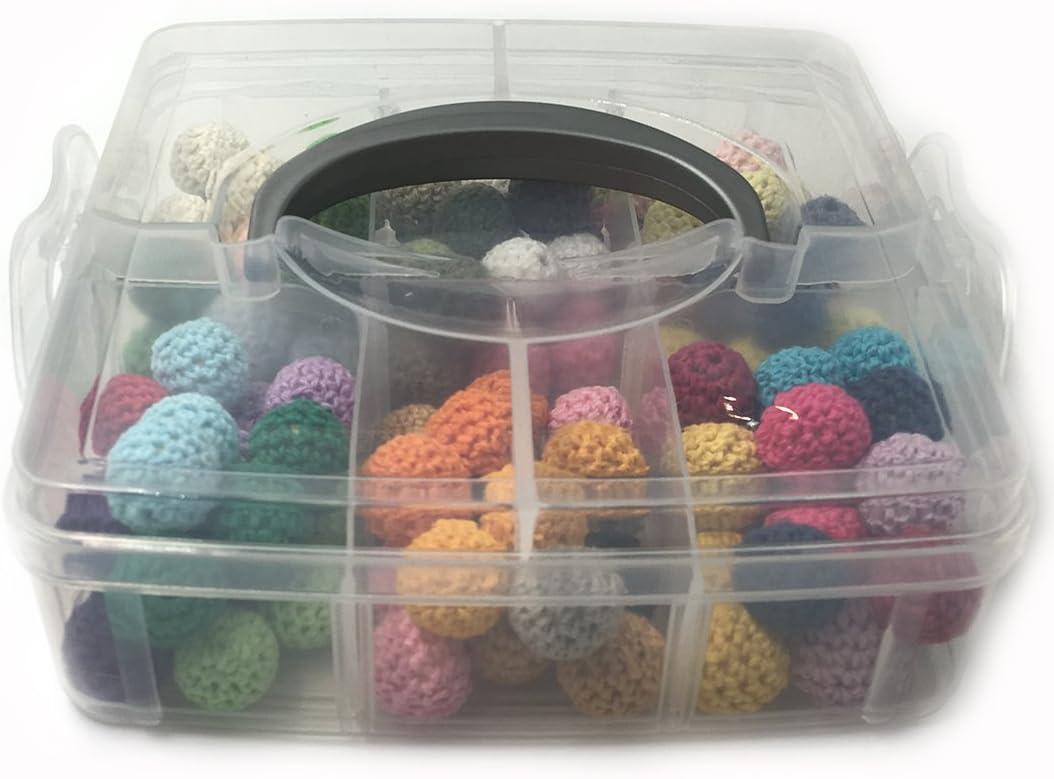 Accessoires de jouet de dentition b/éb/é Coskiss DIY pour b/éb/é 2 bo/îtes de jouets en h/être naturel en bois naturel taill/és /à la main avec un clip de mamelon et un collier de dents