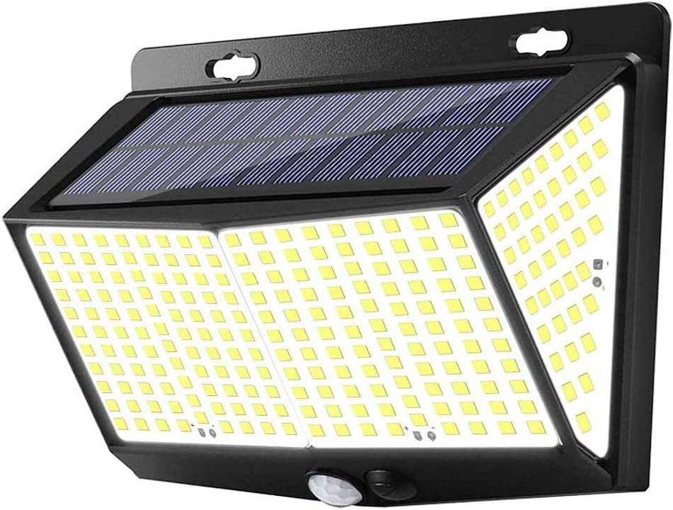 288 LED Solar Lights Outdoor, Exterior Solar Powered Lights Security Motion Sensor Lights with 3 Lighting Modes, 270° Wide-Angle, IP65 Waterproof Wireless for Outside Wall Fence Yard Garage