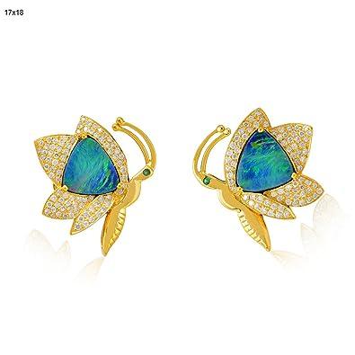 Socheec Majestic Opal Stud Earring Aqlmc